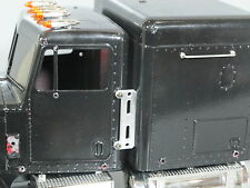 Aluminum Exhaust Stack Relocate Mounting Plates for Tamiya 1/14 Semi King Hauler