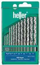 HELLER 13 PEZZI HSS-G SUPER Twist Drill Bit Set 2mm - 8mm TERRA-Fatto Germania