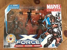 MARVEL UNIVERSE *X-FORCE* 3 Pack DEADPOOL WOLVERINE WARPATH New Sealed