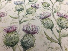Roman Blind Thistle Glen Country Highlands Linen Interlined Mechanised Track MTM