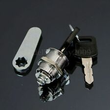 20mm Cam Lock for Door Cabinet Mailbox Post Box Drawer Cupboard Locker & 2 Keys