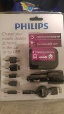 Philips Multi Brand Cellphone Charger Kit - LG Samsung Nokia Micro/Mini USB