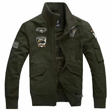 2017 Men's Military USA Army Flight Slim Zipper Jackets Air Force jacket Coat