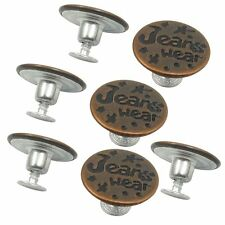7PCS Letters Pattern Lock Inside No Sew Jeans Tack Buttons 20mm Dia LW
