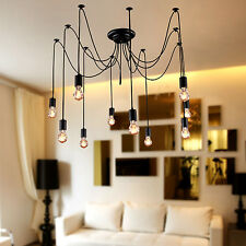 10 Lights bulbs Edison Chandelier Ceiling Light Pendant Lamp Lighting Fixture