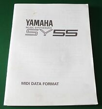 Original Yamaha SY55 Music Synthesizer MIDI Data Format Manual
