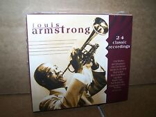 Louis Armstrong,24 CLASSIC  RECORDINGS 2 CD SET-NEW -LEGENDARY TRUMPSTER-SATCHMO