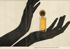 Publicité Advertising 1972 ( Double page )  Parfum Audace de ROCHAS