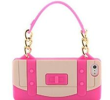 STYLISH HANDBAG BAG SOFT SILICONE RUBBER GEL iPHONE 5 BACK CASE COVER SKIN PINK.