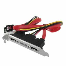 2-eSATA + 4 Pin Power Bracket Port to Female SATA Cable MJ