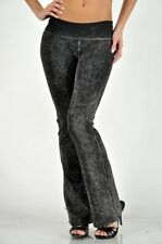 T-Party Mineral Acid Wash Thick Yoga Pants Flare Heavyweigh Foldover Band CJ7477