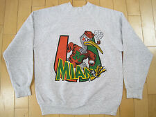SUPER COOL!! 80s vtg MIAMI HURRICANES football GREY SWEAT SHIRT large