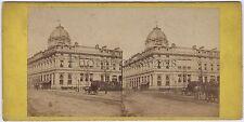 Tribunal de Commerce Paris Stéréo Vintage albumine ca 1860