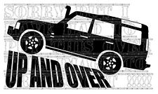 UP AND OVER LAND ROVER DISCOVERY TD5 200 300 TDI TDV6 4X4 decal sticker vinyl