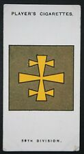 59th North Midland Division  World War 1  Ireland & W Front  INSIGNIA CARD # VGC