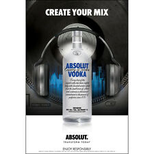 "ABSOLUT ""CREATE YOUR MIX"" POSTER  24 BY 36 NEW"