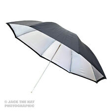 "40"" Pro Studio Flash Umbrella - Black / Silver Reflector Brolly. 100cm Diameter."