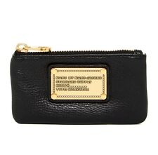 NWT Marc by Marc Jacobs Classic Q Leather Key Pouch Black/Brass HW $100+ AUTHNTC