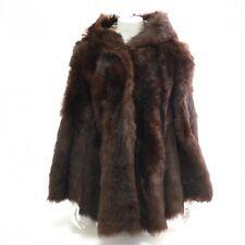 Patrizia Pepe Felljacke Cape Giubbotto Agnello/Leather Brown Fur Gr. 36 NEW NEU