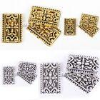 Antique Silver/Golden Tibetan Silver 3-3 Hole Rectangle Charms Spacer Beads