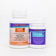 HCG Weight Loss VLC Diet 25 Day Soft-Gel Caps & Detox Refill Pack Eagle Supreme