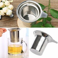 Mesh Tea Infuser Strainer Reusable Loose Tea Leaf Spice Filter Stainless Steel