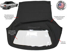 BMW 3-Series 1994-1999 E36 Convertible Soft Top & Plastic Window Black Twill