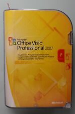 MS Office Visio Professional 2007 Pro win32 Retail versione completa tedesco d87-02789