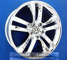 "VOLKSWAGEN VW CC 18 INCH CHROME WHEEL EXCHANGE RIMS 18"" OEM C C ""ST LOUIS"" STYLE"