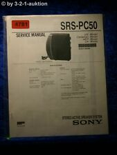 Sony Service Manual SRS PC50 Active Speaker System (#4781)