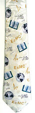 Teacher Books Globes Grades E=MC2 Science Men's Novelty Necktie Neck Tie Harris