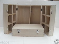 6 X GIFT BOXES WOODEN MEDIUM PLAIN -MULTI USES ART AND CRAFT DECORATE YOUR OWN