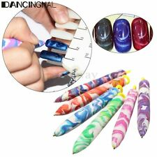 Magnetic Rubber Nail Art Painting Dotting Pen Manicure Tools Marbleizing Kit