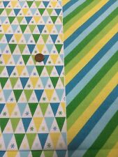 100% Cotton Quilt Fabric By 1/2 Mtr Benartex Big Top Circus Spot Stripe blue