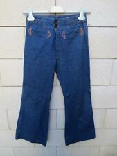 VINTAGE Jeans patte d'éléphants 70'S FOSTER 2 pant seventies 35 made in France