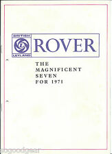 1971 ROVER 2000 TC, SC, 3500, 3 1/2 LITRE, RANGE ROVER 16 PAGE SALES BROCHURE
