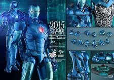 Hot Toys 1/6 Scale Iron Man Mark 3 III Stealth & Iron Man Silver Centurion Set