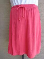 Woman Within Soft Cotton Blend Sport Knit Stretch Waist Skort 4X 34-36W Coral