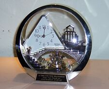 Rhythm Quartz Desk Stairway to Heaven Clock, Angels in Motion Spinning Pendelum