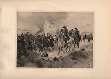 ANTIQUE MILITARY PRINT ~ BATTLE OF RAMILLIES 1706 ~ SMITH'S FORGE CARRIAGE GYN