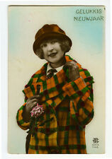 1920s French Deco CUTE FLAPPER Fashion Glamour Glamor photo postcard LEO