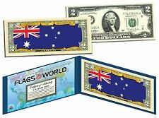 AUSTRALIA - FLAG SERIES $2 U.S. Bill - Genuine Legal Tender Bank Note
