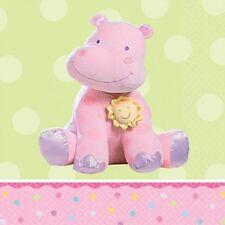 16 petites serviettes hippopotame rose 24.7 x 24.7 cm en papier 2 plis [509640]