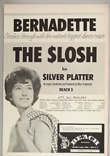 "Bernadette ""The Slosh"" PRINT AD - 1962"