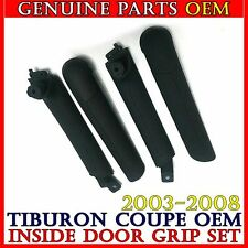 Black Inside Door Handle Grip + Inner Grip SET Hyundai 2003-2008 Tiburon Coupe