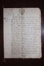 ✒ BRETAGNE AUGAN Procès verbal d'une vente aux enchères en 1776 RARE