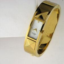 Kate Spade New York Womens 1YRU0241 Carousel Gold Tone Stainless Bangle Watch
