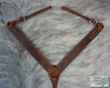 MEDIUM OIL Western Leather Breast Collar Made In USA!! NEW Horse Tack!!