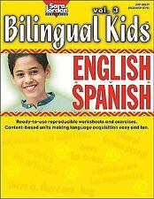 SARA JORDAN BILINGUAL KIDS ENGLISH-SPANISH - NEW PAPERBACK BOOK