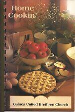 *CALEDONIA MI 1997 GAINES UNITED BRETHREN CHURCH COOK BOOK HOME COOKIN *MICHIGAN